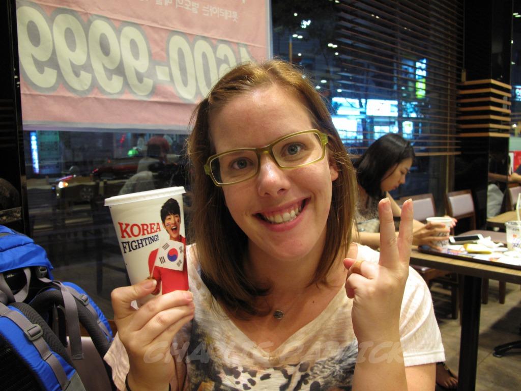Carolyn demonstrates Korean Olympic Fever