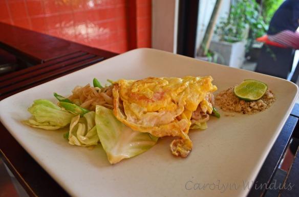 Carolyn's phad Thai noodles.