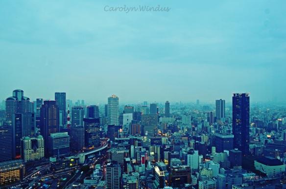 Osaka's skyline from the Umeda Sky Building
