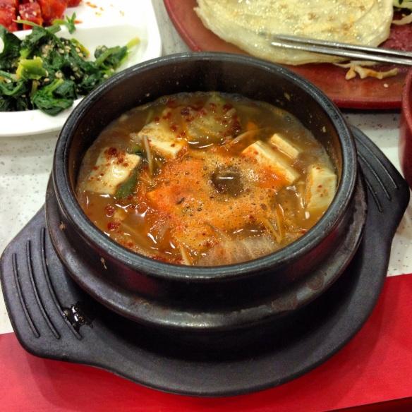 Doenjang Jjigae - Korean soybean paste stew