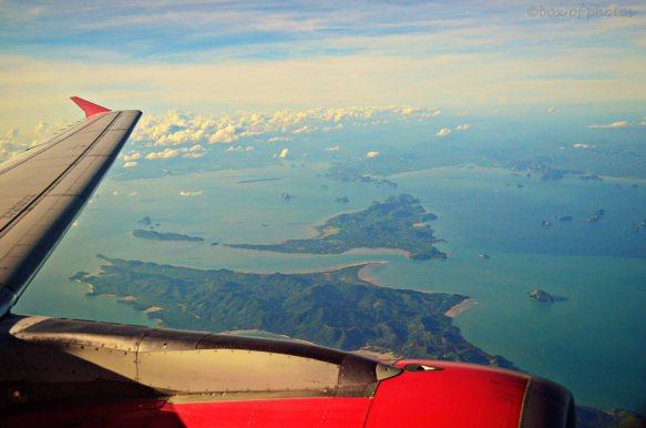 Ao Phang Nga from aboard an Air Asia flight