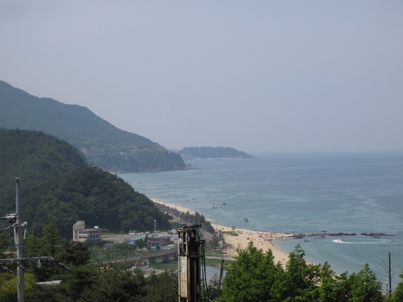 We had a heck of a view at our cheap (but nice) hotel on top of a hill in Jeongdongjin.