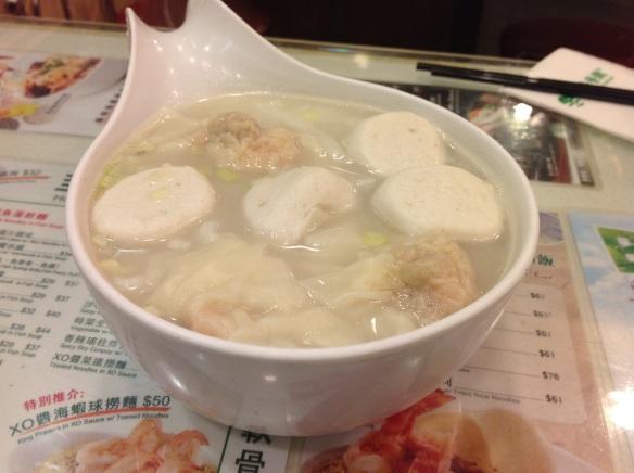 Fish ball and noodle soup - Tsui Wah - Hong Kong