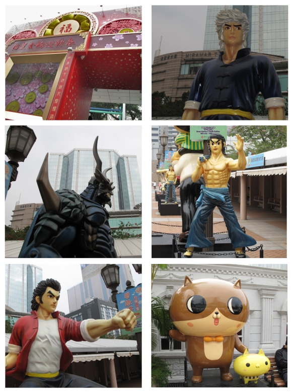 Kowloon avenue of comic stars