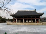 Gyeongbokgung frozen lake