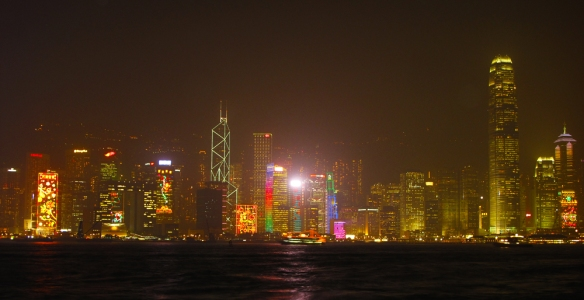 Hong Kong skyline symphony of lights
