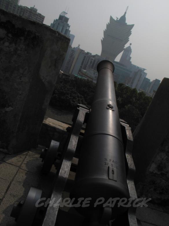 Macau - Grand Lisboa from Mountain Fortress