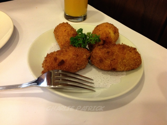 Potato and meat cakes. Lovely.