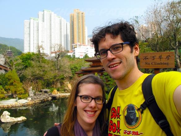 A selfie in the Nan Lian Garden.
