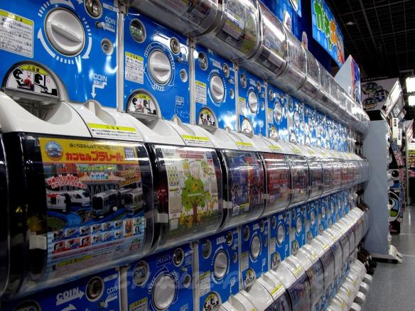 Akihabara Electric City prize dispensers - Tokyo, Japan