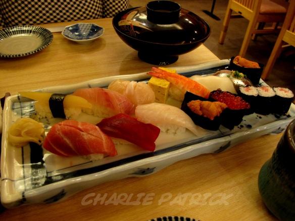 nigiri zushi platter - tokyo japan