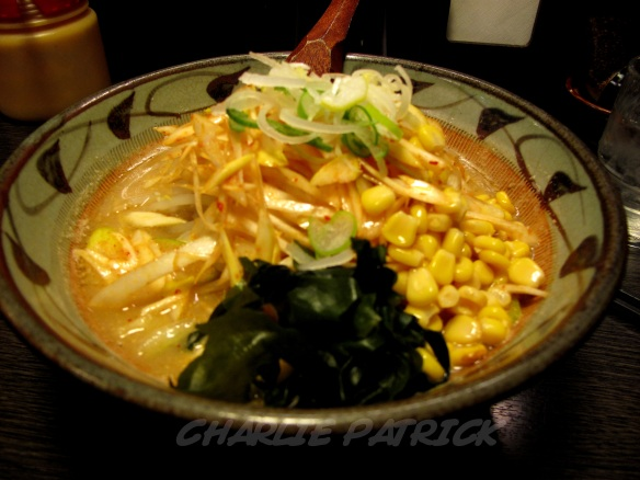 Tokyo, Japan: Ramen with onion and corn