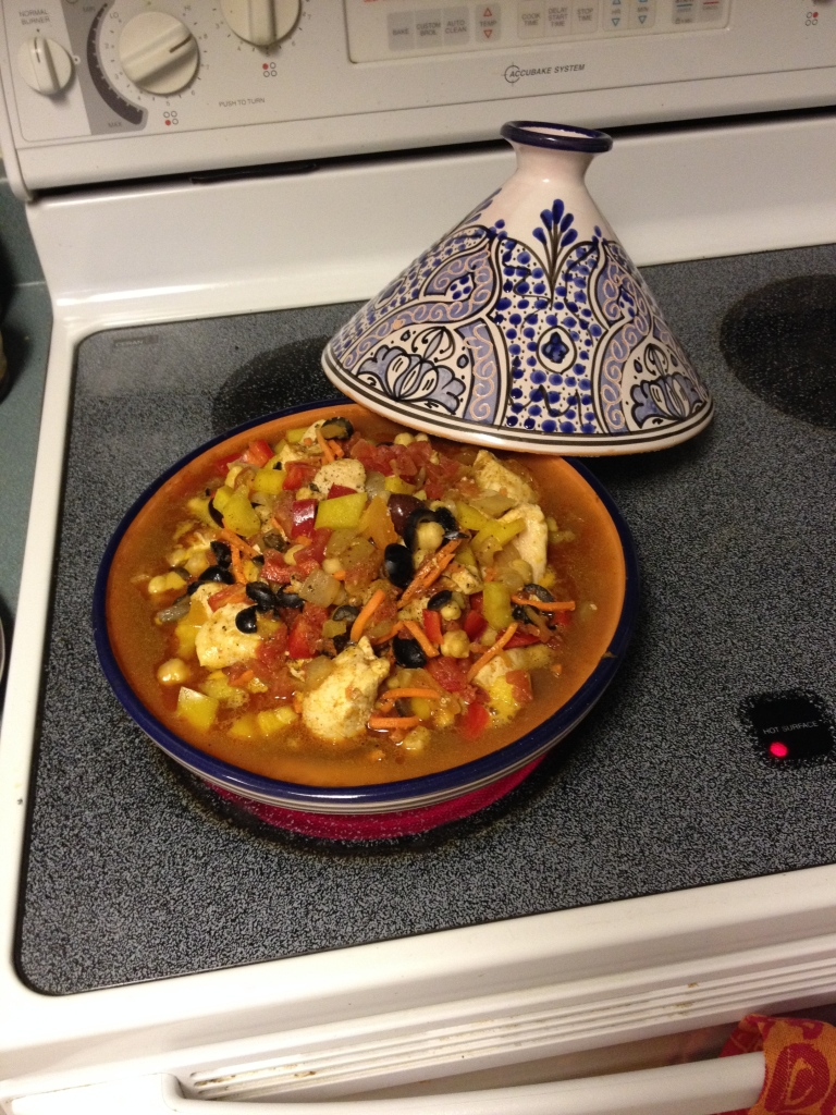 Overfilled tagine